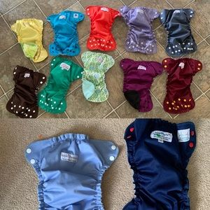 Applecheeks size 1 cloth diaper cover lot